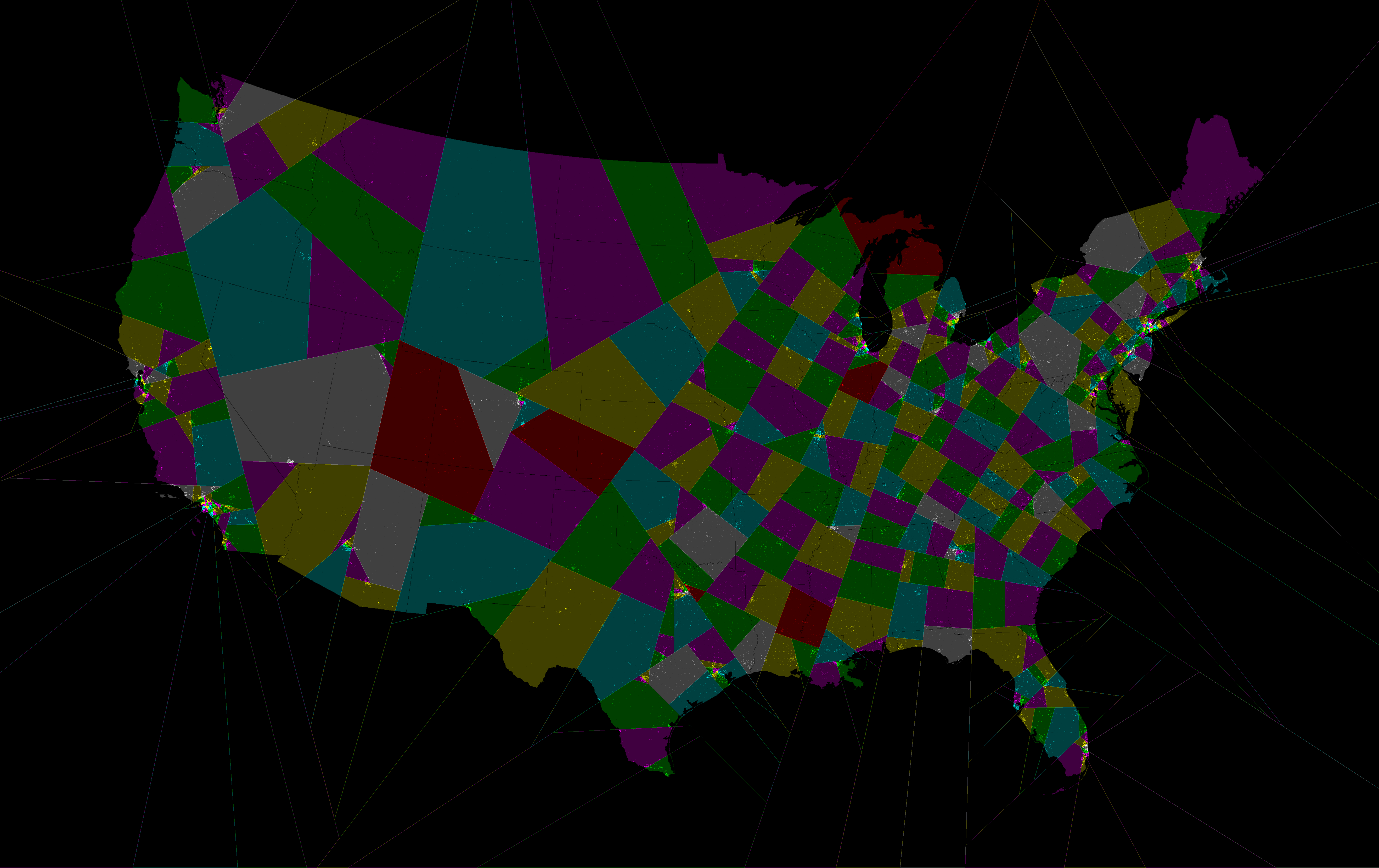 Congressional districts using the shortest splitline ...